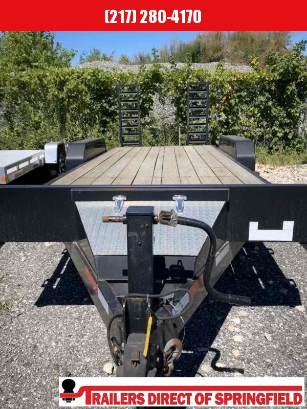 2013 Rice 82X20 Equipment Trailer 14K GVWR Stand Up Ramps