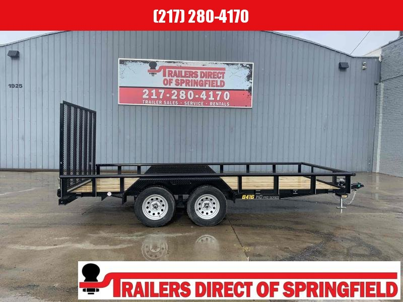 2021 Doolittle 84X16 Pipe Top Utility Trailer 7000 GVWR 5' Mesh Gate w/ Spring Assist LED LIGHTS Radial Tires Double Electric Brakes