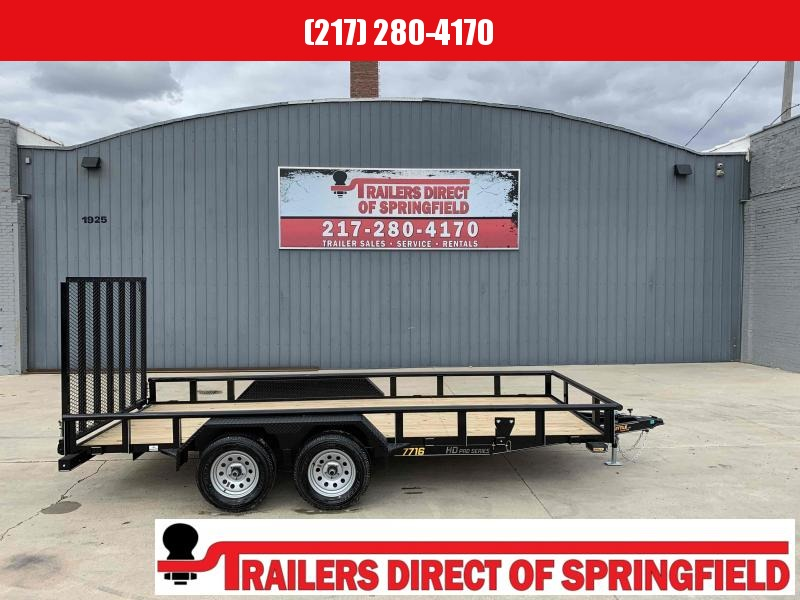 2021 Doolittle 77X16 Pipe Top Utility Trailer 7K GVWR 5' Mesh Gate Spare Tire Carrier