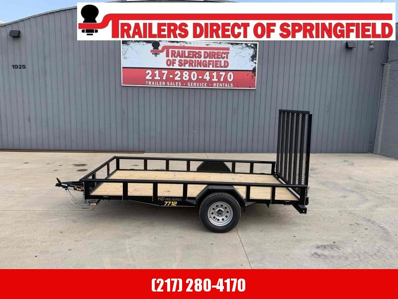 2021 77X12 Pipe Top Utility Trailer Dare to Compare!