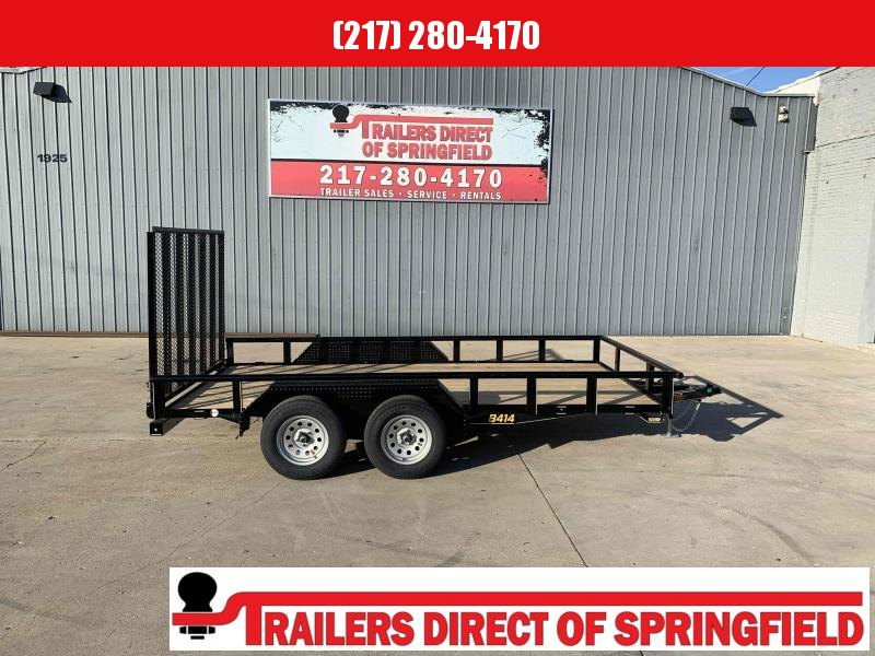 2021 Doolittle 84X14 Pipe Top Utility Trailer 7000 GVWR 5' Mesh Gate w/ Spring Assist LED LIGHTS Radial Tires Double Electric Brakes