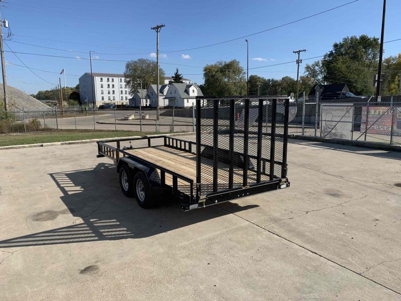 2021 Doolittle 77X16 Pipe Top Utility Trailer 7K GVWR 5' Mesh Gate