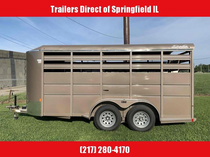 2020 Delta Manufacturing  6X16 Horse Livestock Trailer