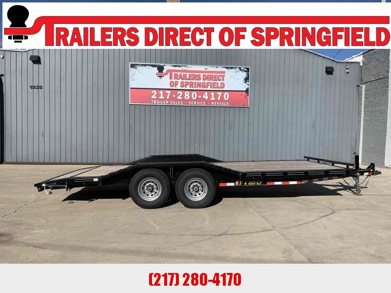 2018 Doolittle 82X20 CF Equipment Trailer 14K GVWR Drive Over Fenders