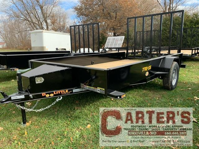 "2021 Doolittle Trailer Mfg 77"" X 12' SS Utility Trailer"