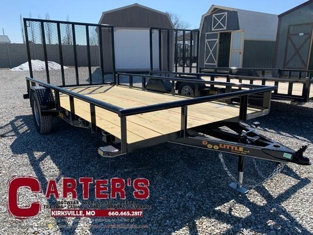 2021 Doolittle Trailer Mfg 84 x 14 Pipe Rail Utility Trailer