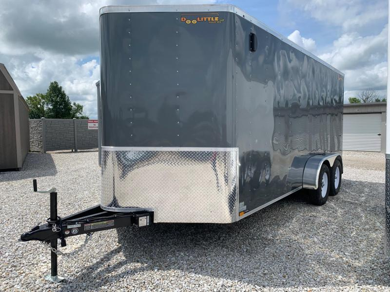 2020 Doolittle Trailer Mfg 7 x 16 Enclosed Cargo Trailer REAR RAMP DOOR
