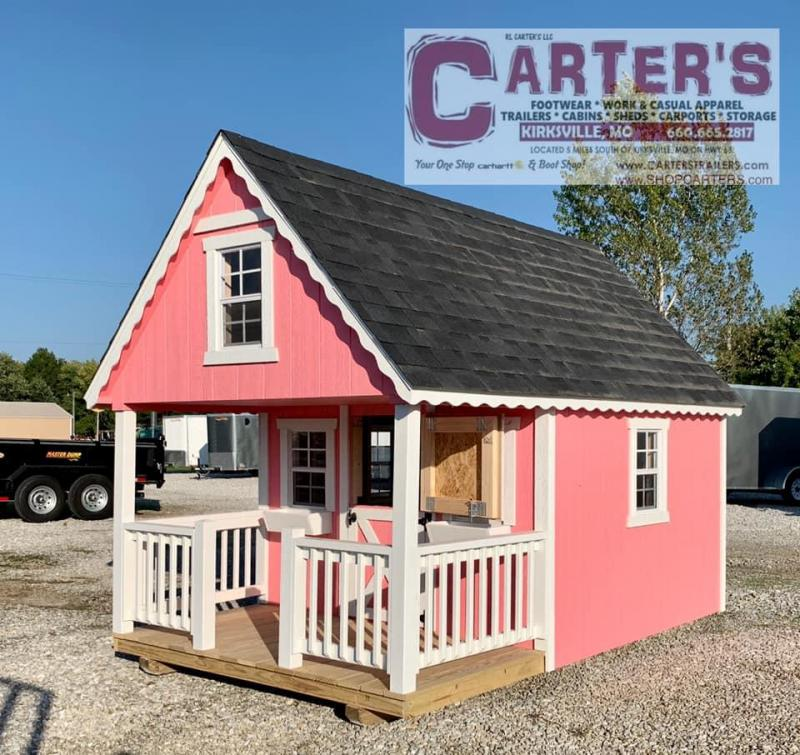 8 X 12 DELUXE PLAYHOUSE BY MIDWEST STORAGE BARNS