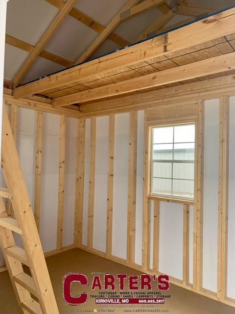 *PRE-OWNED* 12' X 12' DELUXE CABIN BY MIDWEST STORAGE BARNS