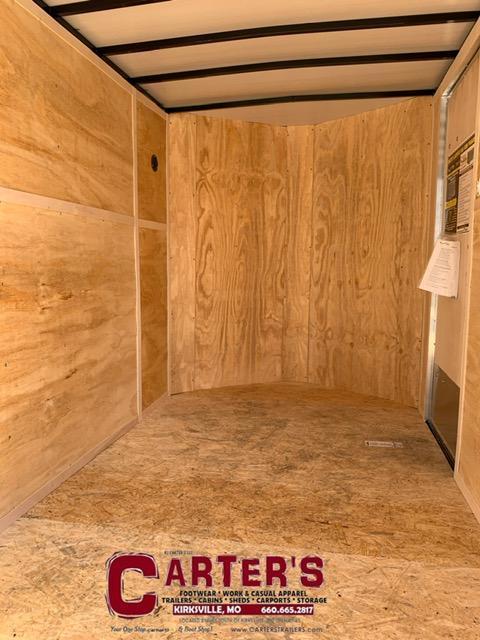 "2021 Doolittle Trailer Mfg 6 X 10 CARGO Enclosed Cargo Trailer REAR RAMP DOOR + 6"" EXTRA HEIGHT"
