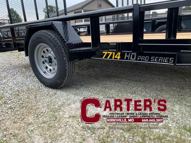 2021 Doolittle Trailer Mfg 77 x 14 PIPE RAIL Utility Trailer + ATV SIDE RAMPS