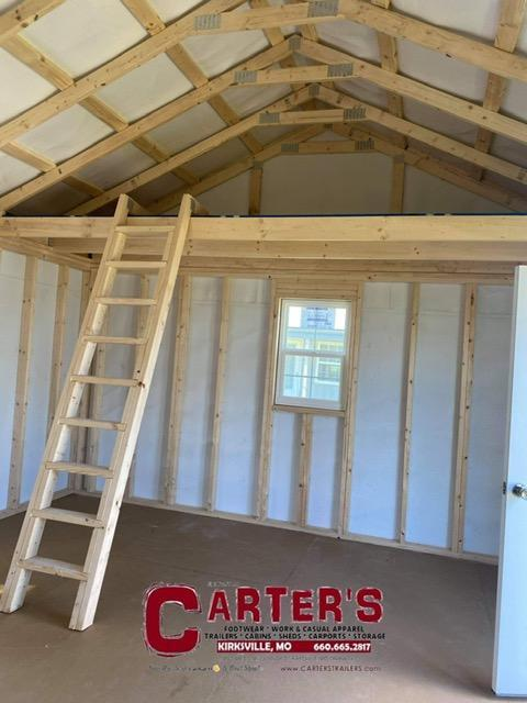 MIDWEST STORAGE BARNS 15' X 36' DELUXE CABIN