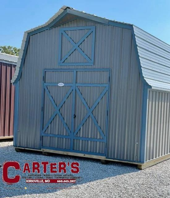 12' X 16' HIBARN Utility Shed BY MIDEST STORAGE BARNS
