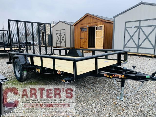 2021 Doolittle Trailer Mfg 77 x 12 Pipe Rail Utility Trailer