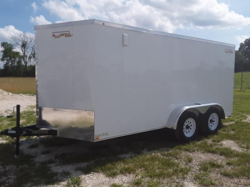 2020 Doolittle Trailer Mfg 7 x 14  RALLY SPORT Enclosed Cargo Trailer REAR RAMP DOOR 7K GVWR