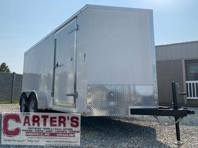 2021 Doolittle Trailer Mfg 7 x 14  RALLY SPORT Enclosed Cargo Trailer REAR RAMP DOOR 7K GVWR