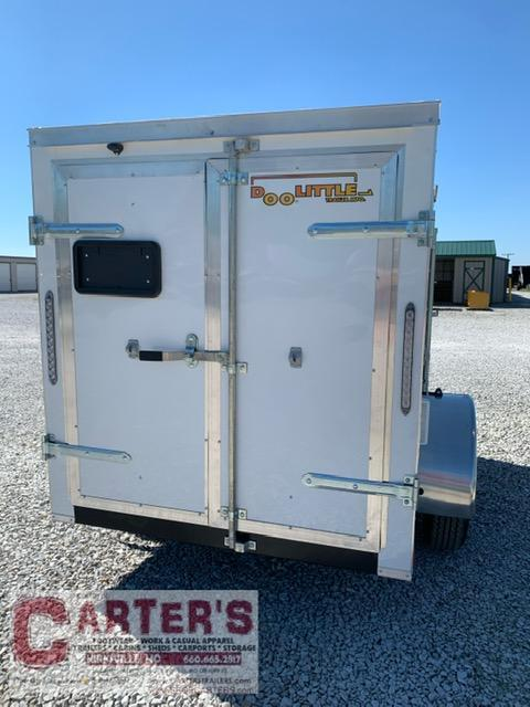 2021 Doolittle 5 x 8 Rear DOUBLE DOORS Enclosed Cargo Trailer