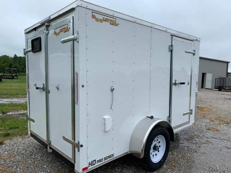 2020 Doolittle Trailer Mfg 6 x 12 Enclosed Cargo Trailer REAR DOUBLE DOORS
