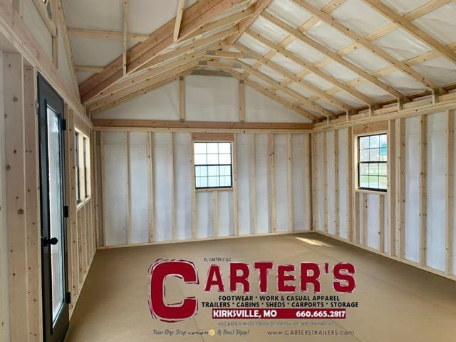 15 X 24 DORMER CABIN BY MIDWEST STORAGE BARNS