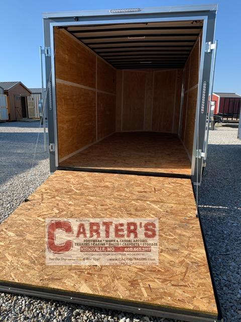 2021 Doolittle Trailer Mfg 7 x 16 Enclosed Cargo Trailer REAR RAMP DOOR