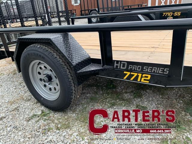 2021 Doolittle Trailer Mfg 77 x 12 Pipe Rail Utility Trailer
