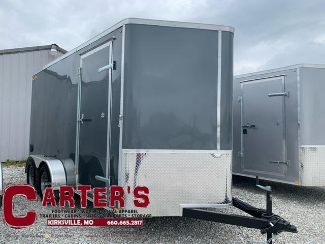 2021 DOOLITTLE TRAILER MFG 7 X 14 CARGO T/A REAR RAMP DOOR