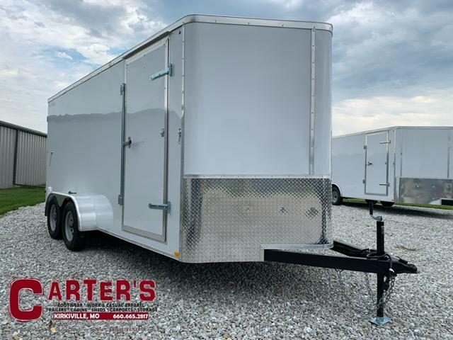 2021 Doolittle Trailer Mfg 7X16 Enclosed Cargo Trailer REAR BARN DOORS