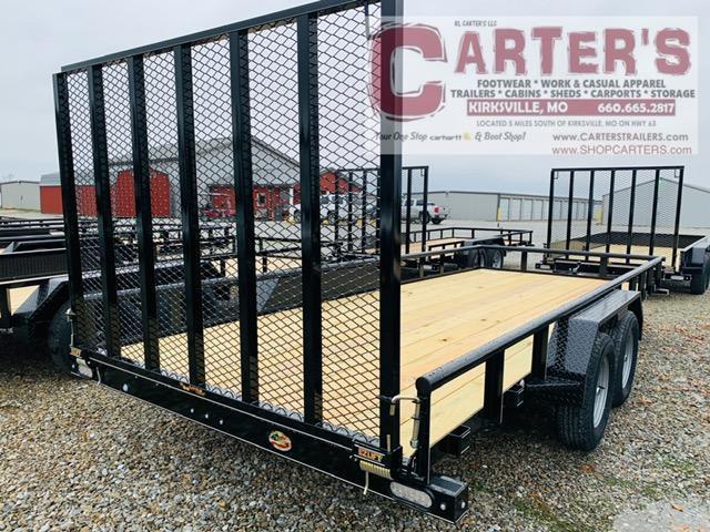 2021 Doolittle Trailer Mfg 84 X 18 Pipe Rail T/A Utility Trailer