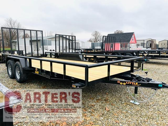 2021 Doolittle Trailer Mfg 84 X 18 Pipe Rail T/A Utility Trailer