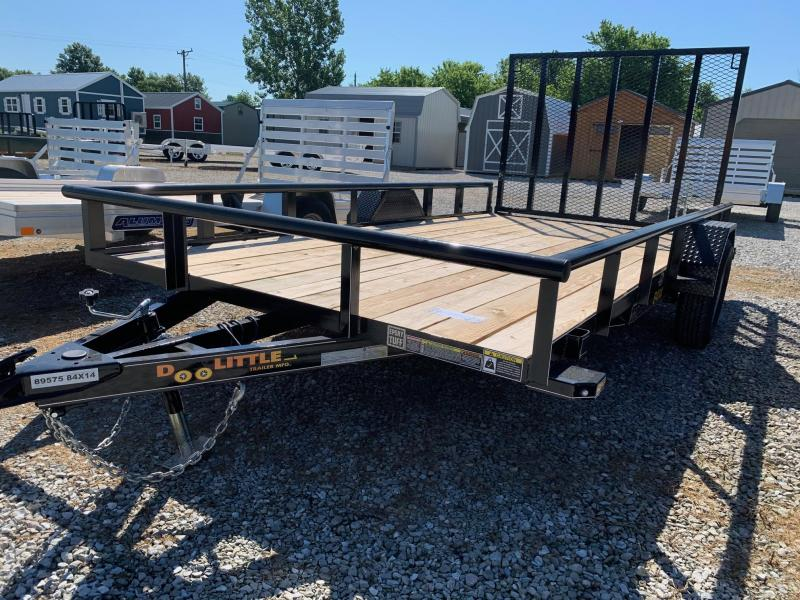 2020 Doolittle Trailer Mfg 84 x 14 Pipe Rail Utility Trailer