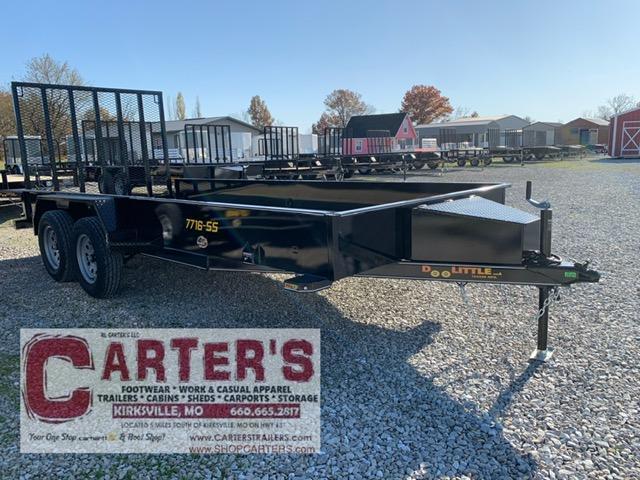 "2021 Doolittle Trailer Mfg 77"" X 16' SS T/A Utility Trailer"
