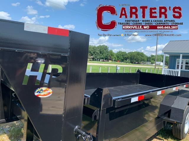 "2021 HP Trailers 84"" X 16' GOOSENECK Dump Trailer 16K GVWR SCISSOR LIFT"