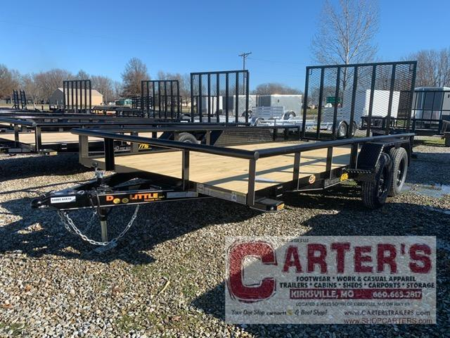2021 Doolittle 84 x 16 PIPE RAIL T/A UTILITY TRAILER