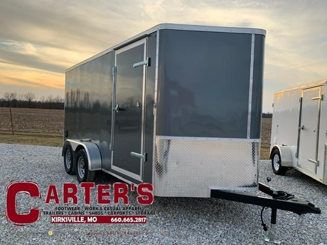2021 DOOLITTLE TRAILER MFG 7 X 14 CARGO T/A REAR RAMP DOOR