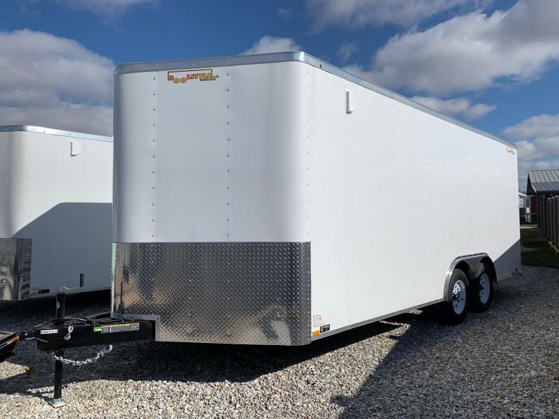 New 2020 Doolittle 8.5 x 18 Rear Ramp Door Enclosed Cargo Trailer
