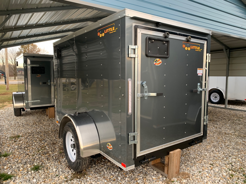 New 2020 Doolittle 5 x 8 Rear Ramp Door Enclosed Cargo Trailer