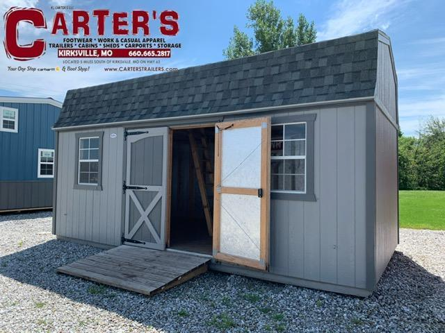 *PRE-OWNED* MIDWEST STORAGE BARNS 10' x 20' SIDE ENTRY HIBARN Utility Shed