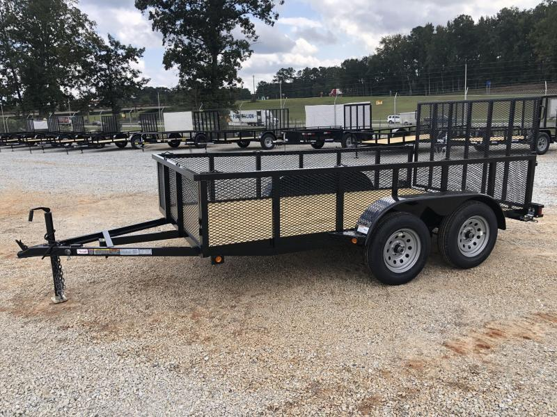"""2021 Superior 6x12 Elite Tandem Axle Utility Trailer with 24"""" Mesh Sides and Spring Assisted Gate"""