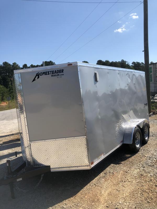 2021 Homesteader 7 x 14 Tandem Axle Enclosed Cargo Trailer - Silver