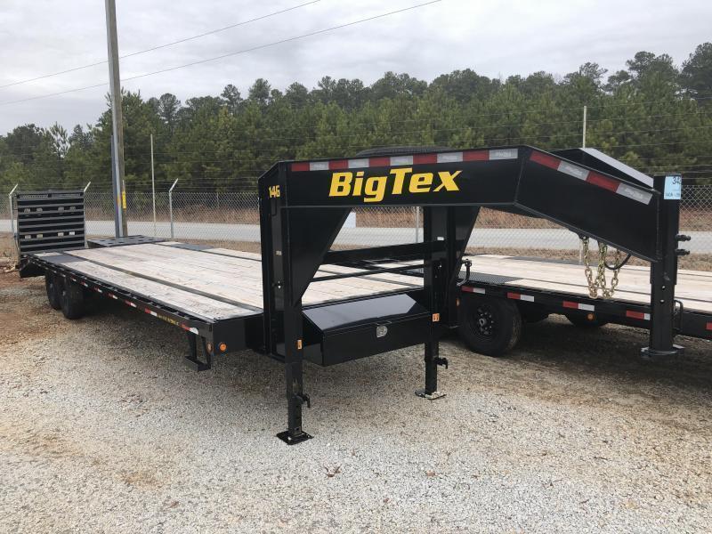 2021 Big Tex 14GN-20+5MR - 14k Gooseneck Flatbed Trailer w/ Mega Ramps