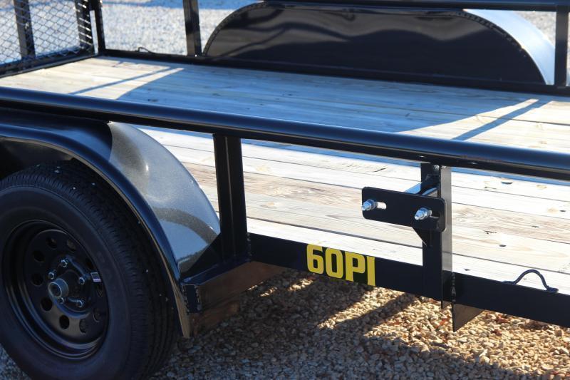 "2022 Big Tex 60PI-12 Tandem Axle Pipe Top Utility Trailer 77""x12'"