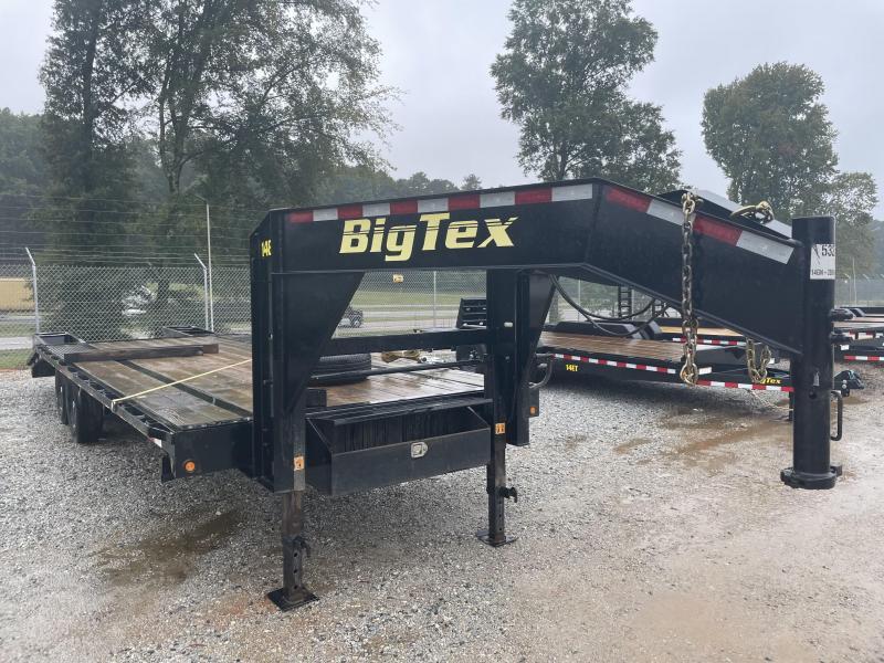 USED 2019 Big Tex 14GN-20 + 5 Gooseneck Equipment Trailer