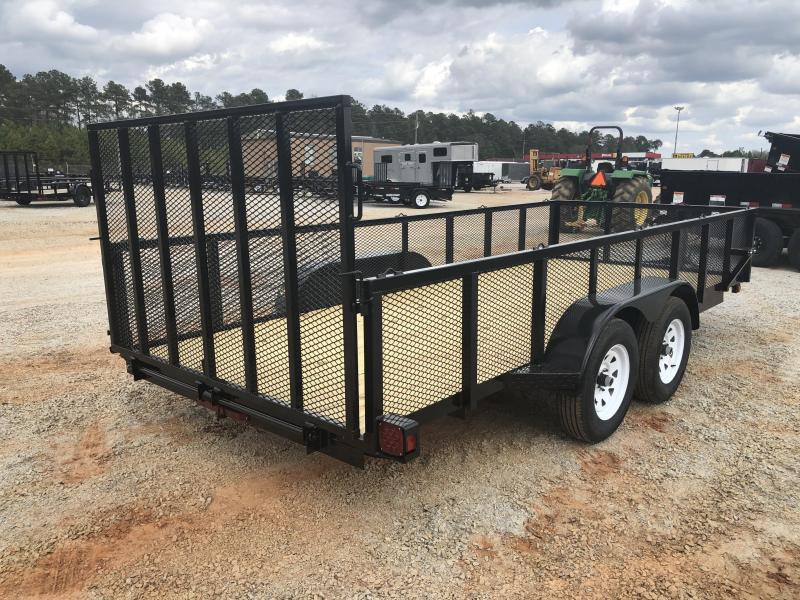 "2021 Superior 6x16 Elite Tandem Axle Utility Trailer With 24"" Mesh Sides and Spring Assist Gate"