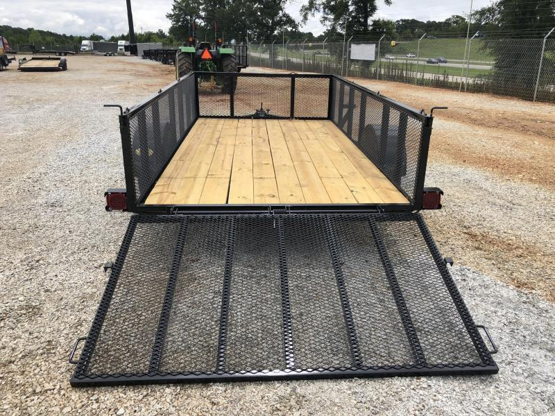 """2021 Superior 6x12 Elite Utility Trailer with 24"""" Mesh Sides with Spring Assist Gate"""
