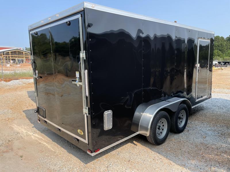 "2022 Spartan 7x16 Black 6'-6"" int. ht. Enclosed Cargo Trailer"