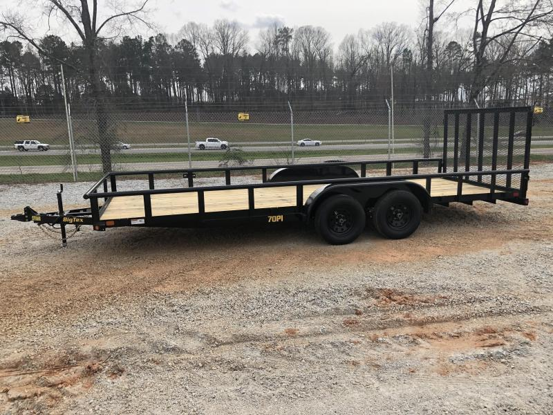 2021 Big Tex 83 X 20 7K Tandem Axle Pipe Top Utility Trailer