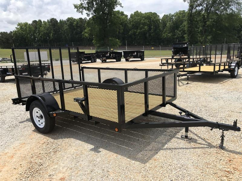 "2021 Superior 6 x 10 Elite Utility Trailer w/ 24"" Mesh Sides and Spring Assisted Gate"