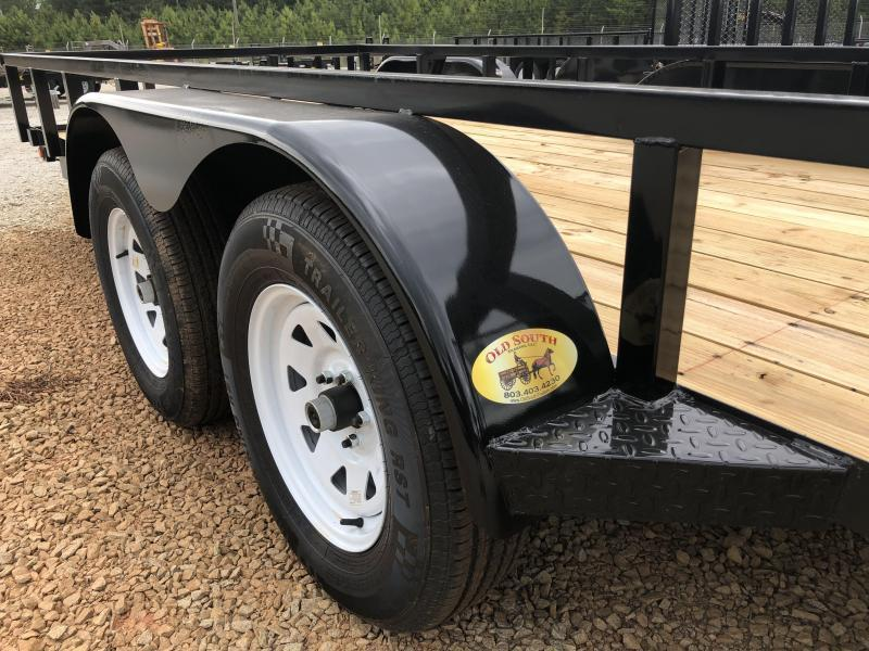 2021 Superior 6 x 16 Elite Tandem Axle Utility Trailer with Spring Assist Gate
