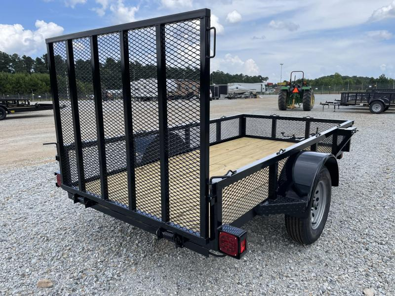 """2021 Superior 5 x 10 Elite Utility Trailer w/ 14"""" Mesh Sides and Spring Assist Gate"""