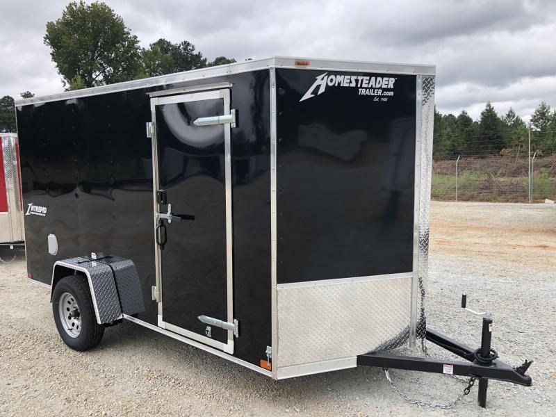 2021 Homesteader 6 x 12 Intrepid Single Axle Enclosed Cargo Trailer - Black with RV lock